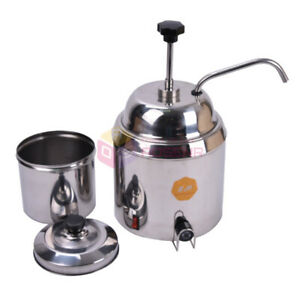 Hot Nacho Fudge Dispenser Warmer Chocolate Cheese Heating Machine