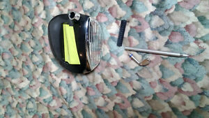 Post it Golf Club Driver Pop up Note Dispenser And Pen Holder With Iron Pen Rare