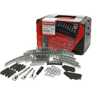 Craftsman 320pc Mechanics Tool Set With 3 Drawer Tool Box Chest Garage 320 Piece