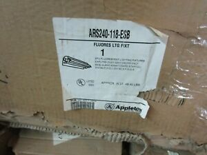 Appleton Explosion Proof Fluorescent Light Fixture Ars240 118 esb