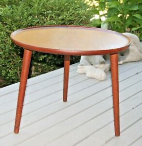 Mid Century Danish Modern Teak Wood Side End Coffee Table Denmark Scandinavian
