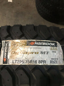 4 New Lt 295 75 16 Lrd 8 Ply Hankook Dynapro Mt Mud Tires