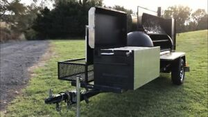 Commercial Open Bbq Grill And Smoker Food Trailer For Sale In New Jersey
