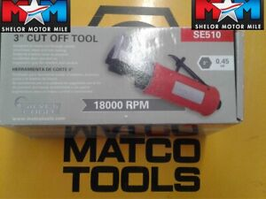 Silver Eagle Matco 3 Air Grinder Cut Off Tool Model Se510 18 000 Rpm New