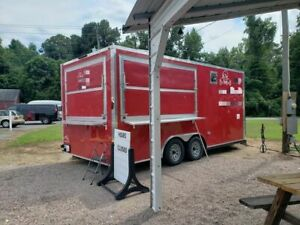 2017 8 X 18 Colony Food Concession Trailer With Pro Fire Suppression System Fo