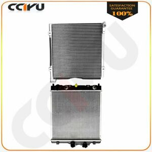 Assembly Aluminum Radiator Ac Condenser For 98 00 Honda Civic 1 6l L4