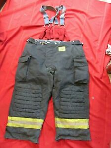 Morning Pride Bunker Pants Turnout Gear Fdny Style Size 46 X 26 Suspenders