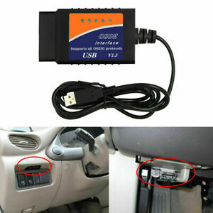 1pc Obdii Obd2 Elm327 Usb Interface Diagnostic Scanner Tool Cable For Car Toyota