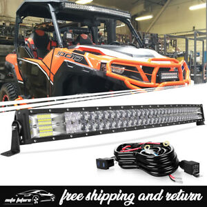 New 5d Curved 40 42 Led Light Bar Combo For Polaris General 1000 Upper Roof