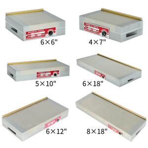 4x7 6x6 8x18 Fine Pole Magnetic Chuck Machining Workholding Permanent New