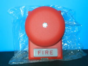 New Wheelock 46t g6 24 ws Red Bell Strobe Combo Fire Alarm Notification