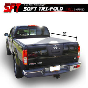 For 15 18 Nissan Frontier 5ft Bed Fleetside Soft Vinyl Trifold Tonneau Cover