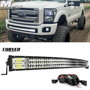42 40 In Led Light Bar Combo Curved For 17 2019 Ford F250 F350 Front Bumper