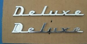New Old Stock Pair Of Nash Emblems Name Plates Deluxe