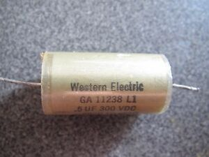 Western Electric 0 5uf 300vdc Low Esr Paper In Oil Capacitor 2