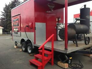 2013 8 6 X 23 Bbq Pit Rig Food Concession Trailer With Porch For Sale In Wa