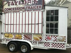 Recently Renovated 8 X 16 Food Concession Trailer Kitchen On Wheels For Sale