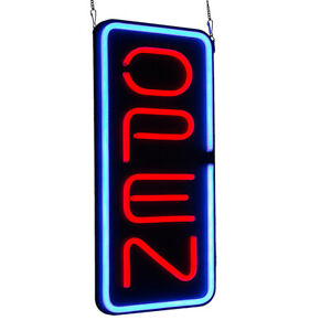Bright 23 6 x11 8 Vertical Neon Open Sign 30w Led Light Window Bar Rooms Big Us