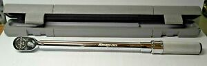 Snap On Adj Click Type Torque Wrench 500 2500 In Lb Drive Qd3r2500