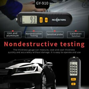 Richmeters Paint Coating Thickness Gauge Tester Fe Nfe 0 1300 m Gy910