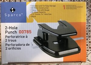 Sparco Heavy Duty Metal 2 hole Punch New