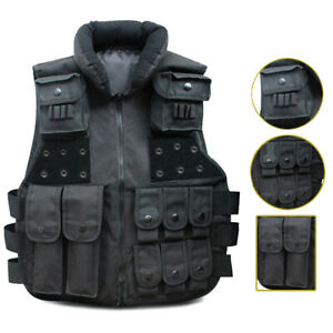 Black Military Combat SWAT Airsoft Tactical Vest Carrier Combat Security Vest $21.73