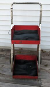 Snap on Red 2 Shelf Rolling Tool Cart