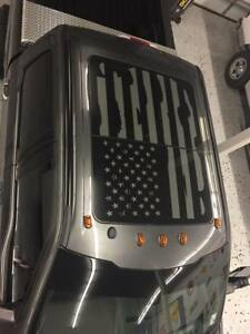 Ford F250 Distressed Flag Roof Panel Sunroof Decal F 150 F 350 2015 2020