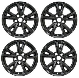 2016 2017 Chevy Equinox 17 Black Wheel Skins Hubcaps Covers Alloy Wheels Set