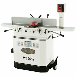 Shop Fox W1755s 6 inch 110v 220v 1 1 2 Hp Jointer With Spiral Cutterhead