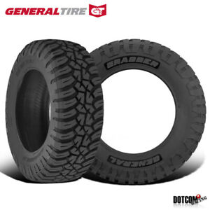 2 X New General Grabber X3 35 12 5 R20 121q Off Road Max Traction Tire