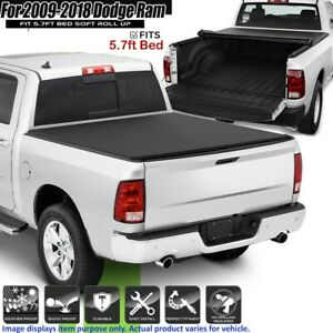 Roll Up Tonneau Cover For 2009 2018 Dodge Ram 1500 Crew Cab 5 7ft Short Bed Aa