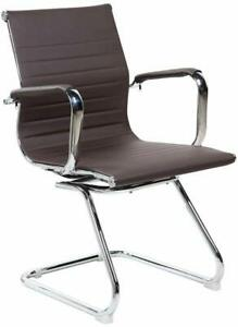 Rta Techni Mobili Modern Visitor Office Chair Chocolate New