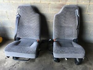 2001 Dodge Ram Front Left Right Seats Gray Used
