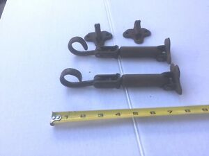 Pair Big Car Working Hood Latches Dodge Cadillac Packard Stutz Buick Ford