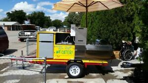 Self contained 2010 5 X 8 Bens Hot Dog Vending Cart In Excellent Condition For