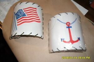 Vintage Nautical Half Round Clip On Boat Cabin Lamp Shades 2 Styles You Pick