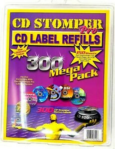 Cd Stomper Pro Cd Label Refills By Cd Stomper Mega Pack 300 Matte Labels Die cut