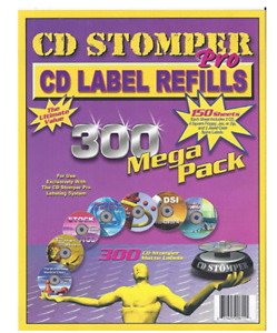 Cd Stomper Pro Cd Label Refills For Cd Labeling Systems 300 Mega Pack