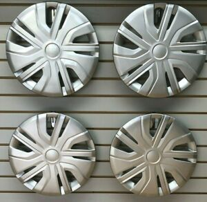New 2017 2020 Mitsubishi Mirage 14 Silver Hubcap Wheelcover Set