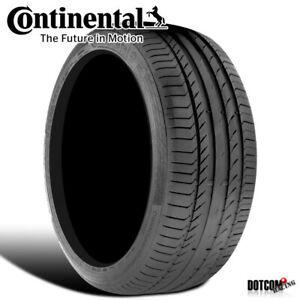 1 X New Continental Contisportcontact 5 245 40 17 91y Performance Summer Tire