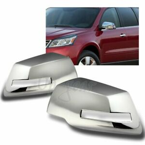 For 2007 2016 Gmc Acadia Chrome Abs Plastic Side View Mirror Cover Cap 2pcs