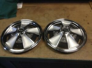 1960 s 13 Inch Mag Style Chevrolet Wheel Covers 2 Covers