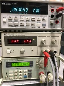 Hp Agilent E3614a 8v 6a 100 240v Dc Power Supply Used Tested Ships Free