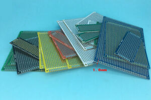 Color Double Side Prototype Printing Board Perforated 2 54mm Plated Through Hole