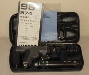 Welch Allyn 3 5v Panoptic Ophthalmoscope Otoscope Lithium Handle 11820 20000