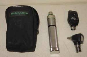 Welch Allyn 3 5v Otoscope Ophthalmoscope Diagnostic Kit 25020 11710 71050 c