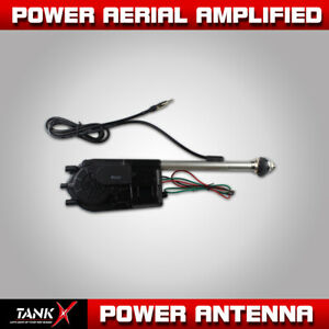 Durable Stainless Steel Electric Power Antenna Am Fm Radio Mast 12v Car Vehicle