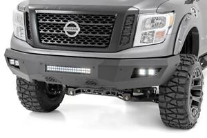 Rough Country Heavy Duty Front Bumper W Leds Fits 16 19 Nissan Titan Xd