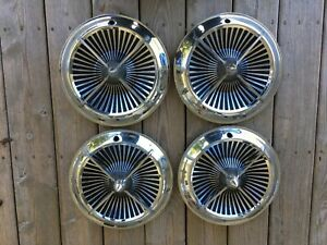 Vintage 4 Bar Spinner Hubcaps Ss Lancer Polara Fiesta Chevy Ford Chrysler 13